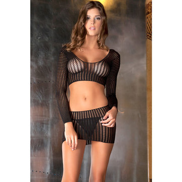 Crochet-net top en rok set