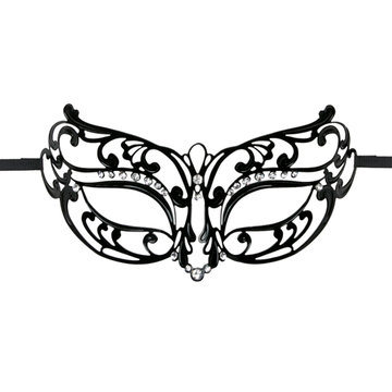 Easytoys Opengewerkt Masker Metaal - Zwart
